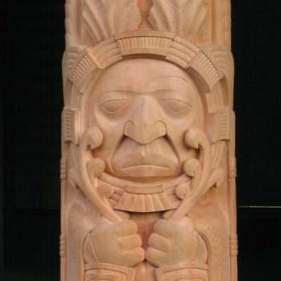 Ya Ya Heit, 2006 Gitxsan Red cedar 58 x 24 x 16 inches